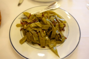 Our starter dish was green beans with Iberico ham. Simple and delicious.