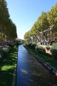 Canal running on outer skirt of city center -- a very enjoyable walk.
