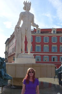 Nancy's just hanging out in Nice.
