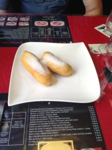 These were fried bananas for desert and were amazing.  This was a family owned business and 'Mom' was the head chef!
