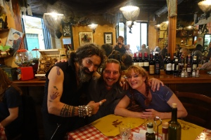 Pirates in Italy!  This restaurant was so much fun and the owner was a kick!