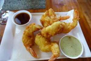 Local shrimp on steroids...huge, tender, juicy and tasty!