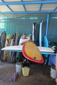 This seminar we attended was how to choose a surfboard and what the different types are.