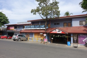 Witches Rock Surf Camp -- Easy to find, close to the center of town on the main drag.