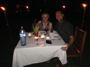 Our memorable beachside dinner